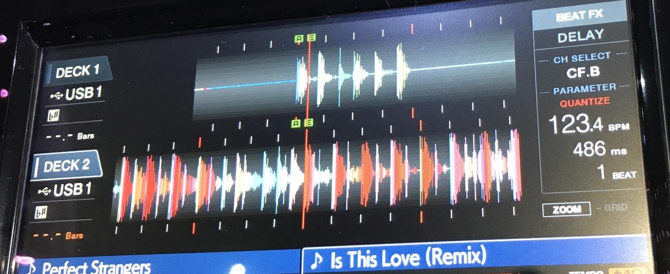 XDJ-RX2 Colour wave form